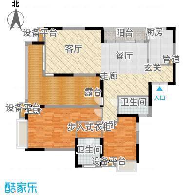 海琴水岸148.00㎡海琴水岸户型图22栋2-17层032室2厅2卫1厨户型2室2厅2卫1厨