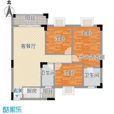 丽的花园113.07㎡丽的花园户型图1座b单元户型图3室2厅2卫户型3室2厅2卫