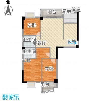 福湾新城秋月苑95.00㎡福湾新城秋月苑3室户型3室