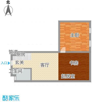 想想大厦户型图O户型 2室1厅1卫1厨