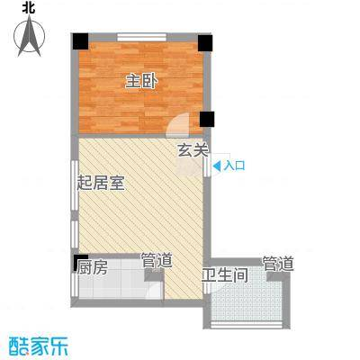 想想大厦62.00㎡想想大厦户型图B户型1室1厅1卫1厨户型1室1厅1卫1厨