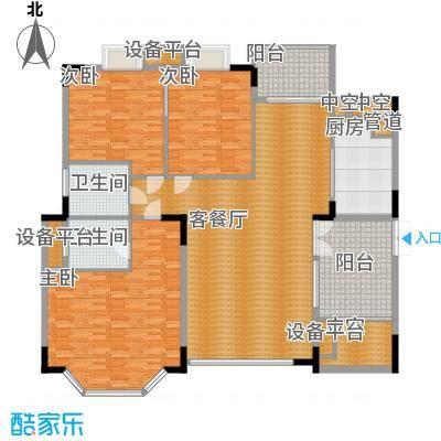 丽日豪庭 4室 户型图
