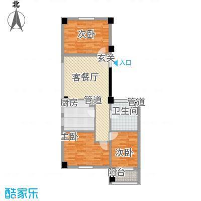 想想大厦户型图G户型 3室1厅1卫1厨
