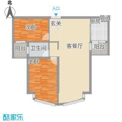 颐景园105.00㎡南海颐景园2室户型2室
