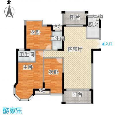 海景蓝湾131.00㎡海景蓝湾户型图3座02单位3室2厅2卫1厨户型3室2厅2卫1厨