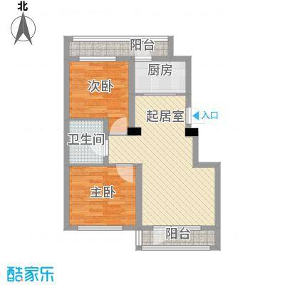 鑫展水岸91.23㎡鑫展水岸户型图7号楼和11号楼6户型2室2厅户型2室2厅