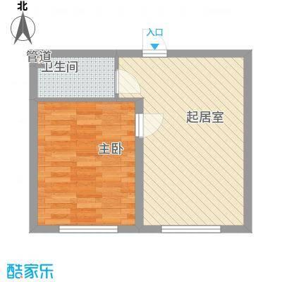 金石小区48.28㎡金石小区1室户型1室