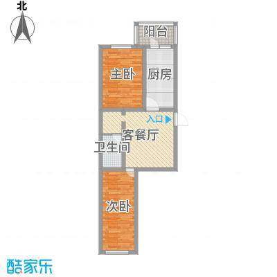 南棵绿荫小区57.29㎡南棵绿荫小区户型图2室1厅1卫1厨户型10室