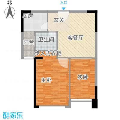 莲花苑三期85.00㎡莲花苑三期2室户型2室
