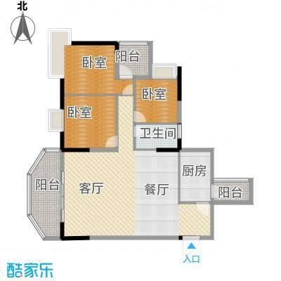 上林苑91.00㎡22栋2座01单位户型1厅1卫1厨