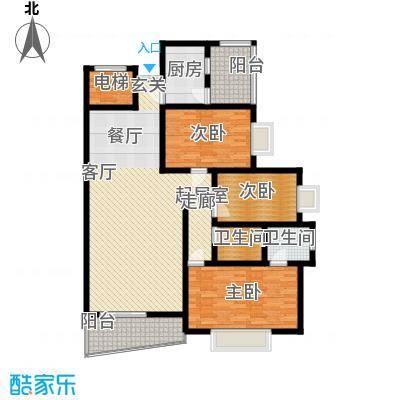 濠兴逸苑132.00㎡濠兴逸苑3室户型3室