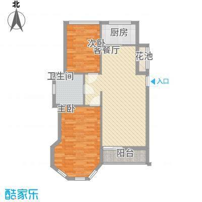 远洋时代城88.00㎡远洋时代城户型图61#楼C1户型2室2厅1卫1厨户型2室2厅1卫1厨