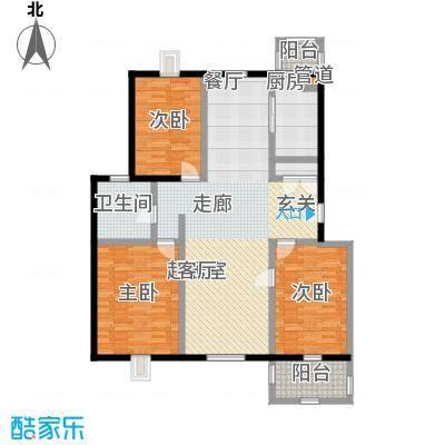 潇河湾125.53㎡潇河湾户型图户型D3室2厅1卫1厨户型3室2厅1卫1厨
