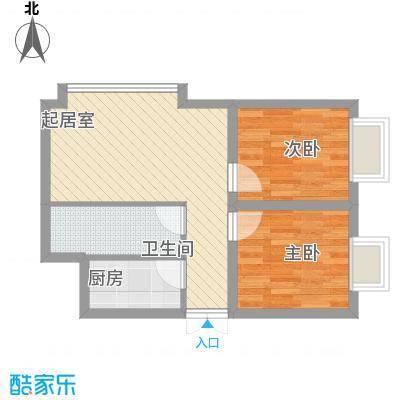 幸福BOX51.25㎡幸福BOX户型图B1户型2室2厅1卫1厨户型2室2厅1卫1厨