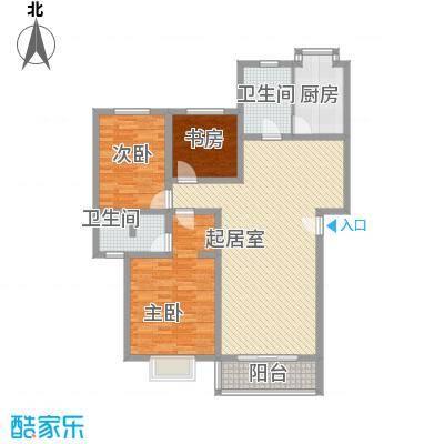 富景花园140.00㎡富景花园3室户型3室