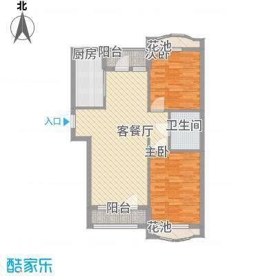 远洋时代城78.00㎡远洋时代城户型图64#楼A户型2室2厅1卫1厨户型2室2厅1卫1厨