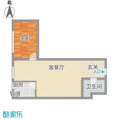 龙康・青年城70.34㎡龙康・青年城户型图户型(二)1室2厅1卫户型1室2厅1卫