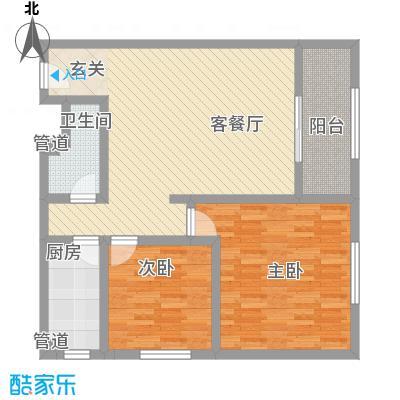 龙康・青年城105.24㎡龙康・青年城户型图户型(四)2室2厅1卫户型2室2厅1卫