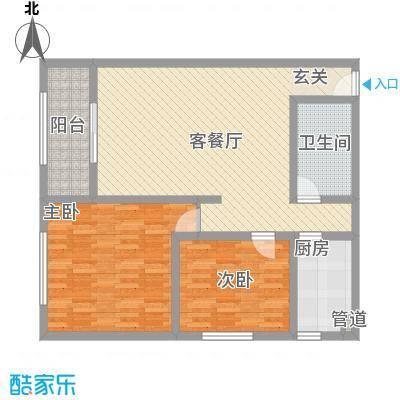 龙康・青年城116.63㎡龙康・青年城户型图户型(五)2室2厅1卫户型2室2厅1卫