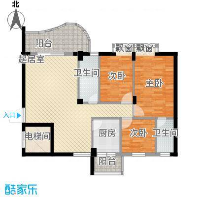 丽日玫瑰116.00㎡丽日玫瑰户型图15座03户型图3室2厅2卫户型3室2厅2卫
