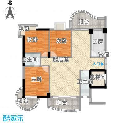 丽日玫瑰133.00㎡丽日玫瑰户型图8座02户型图3室2厅2卫户型3室2厅2卫