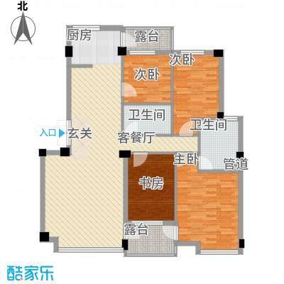 华夏海景144.44㎡华夏海景户型图4室2厅2卫1厨户型10室