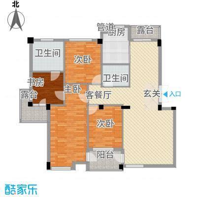 华夏海景166.36㎡华夏海景户型图4室2厅2卫1厨户型10室