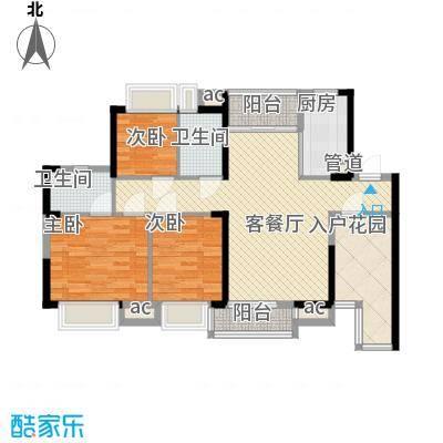 三正卧龙山一号98.00㎡三正卧龙山一号户型图1-4栋、7栋标准层A户型3室2厅2卫1厨户型3室2厅2卫1厨