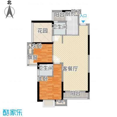 三正卧龙山一号95.00㎡三正卧龙山一号户型图1-5栋、7栋标准层D户型2室2厅2卫1厨户型2室2厅2卫1厨