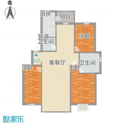 世纪花园105.82㎡世纪花园户型图3室2厅2卫1厨户型10室