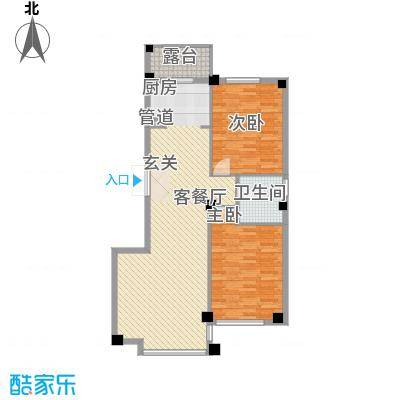 华夏海景113.78㎡华夏海景户型图2室2厅1卫1厨户型10室