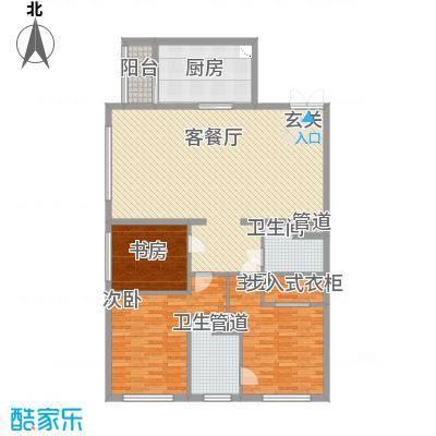 太原茂业天地125.36㎡太原茂业天地户型图B户型3室2厅2卫1厨户型3室2厅2卫1厨