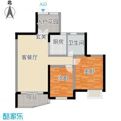 世纪城龙晖苑102.00㎡世纪城龙晖苑2室户型2室