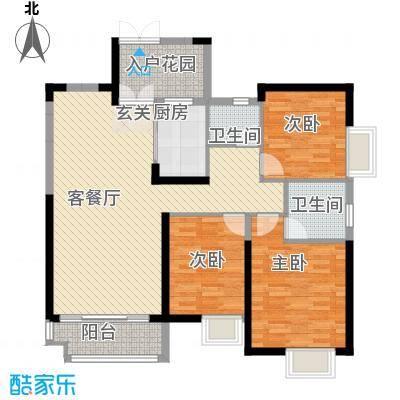 世纪城龙晖苑120.00㎡世纪城龙晖苑2室户型2室
