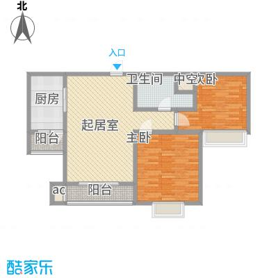万水澜庭(西区)107.51㎡万水澜庭(西区)户型图3号楼A户型2室2厅1卫户型2室2厅1卫