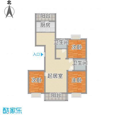 万水澜庭(西区)157.49㎡万水澜庭(西区)户型图2号楼B户型3室2厅2卫户型3室2厅2卫