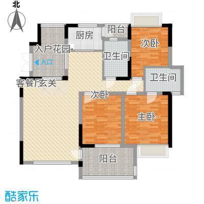 世纪城龙瑞苑138.00㎡世纪城龙瑞苑3室户型3室