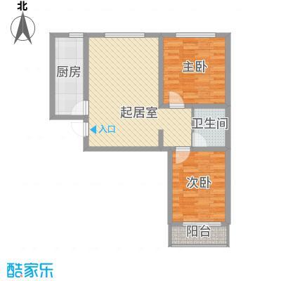 东润花园(北京新干线二期)93.75㎡东润花园(北京新干线二期)户型图22号楼F户型2室2厅1卫1厨户型2室2厅1卫1厨
