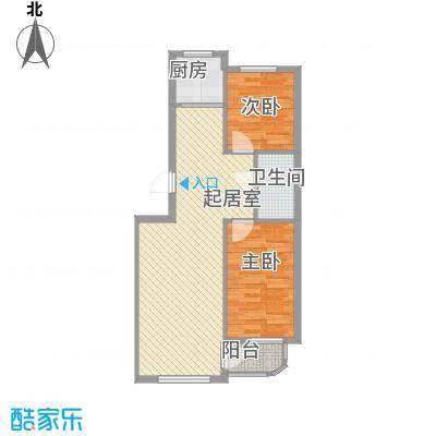 三川城70.78㎡三川城户型图户型2室2厅1卫1厨户型2室2厅1卫1厨
