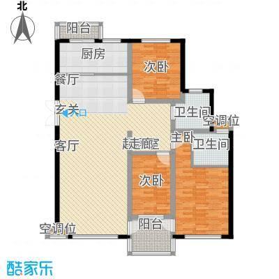 帝景传说128.10㎡帝景传说户型图C3标准层3室2厅2卫1厨户型3室2厅2卫1厨