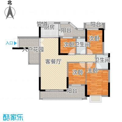 威斯广场139.33㎡威斯广场户型图峰景04户型4室2厅2卫户型4室2厅2卫