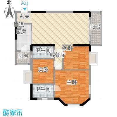 威斯广场118.30㎡威斯广场户型图峰景03户型3室2厅2卫户型3室2厅2卫