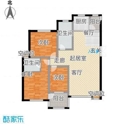 帝景传说98.27㎡帝景传说户型图C6标准层3室2厅2卫1厨户型3室2厅2卫1厨