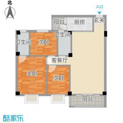 威斯广场109.30㎡威斯广场户型图109㎡户型3室2厅2卫1厨户型3室2厅2卫1厨