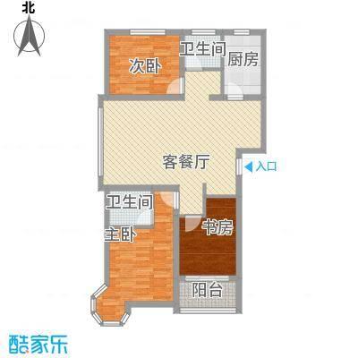 帝景公馆119.69㎡帝景公馆户型图A63室2厅2卫1厨户型3室2厅2卫1厨