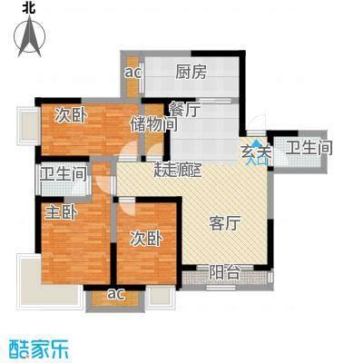 莲花苑105.00㎡莲花苑3室户型3室