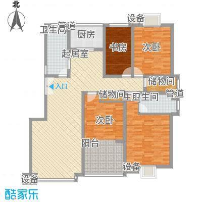 文庭半里155.62㎡文庭半里户型图44室2厅2卫户型4室2厅2卫