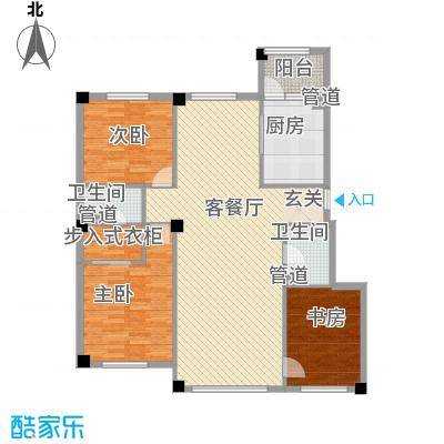 米兰D.C136.00㎡米兰D.C户型图户型22室2厅2卫1厨户型2室2厅2卫1厨
