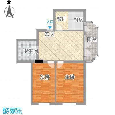 森林人家51.90㎡森林人家户型图2室1厅1卫1厨户型10室