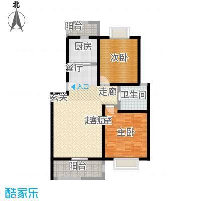 潇河湾102.65㎡潇河湾户型图户型E2室2厅1卫1厨户型2室2厅1卫1厨